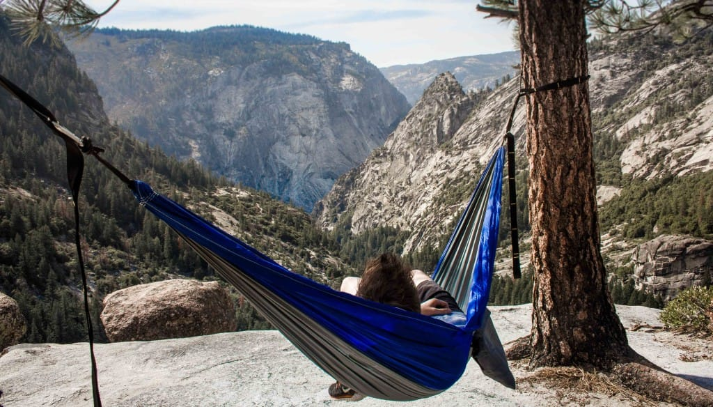 incredible views from a camping hammock. dont be stuck in a stuffy tent