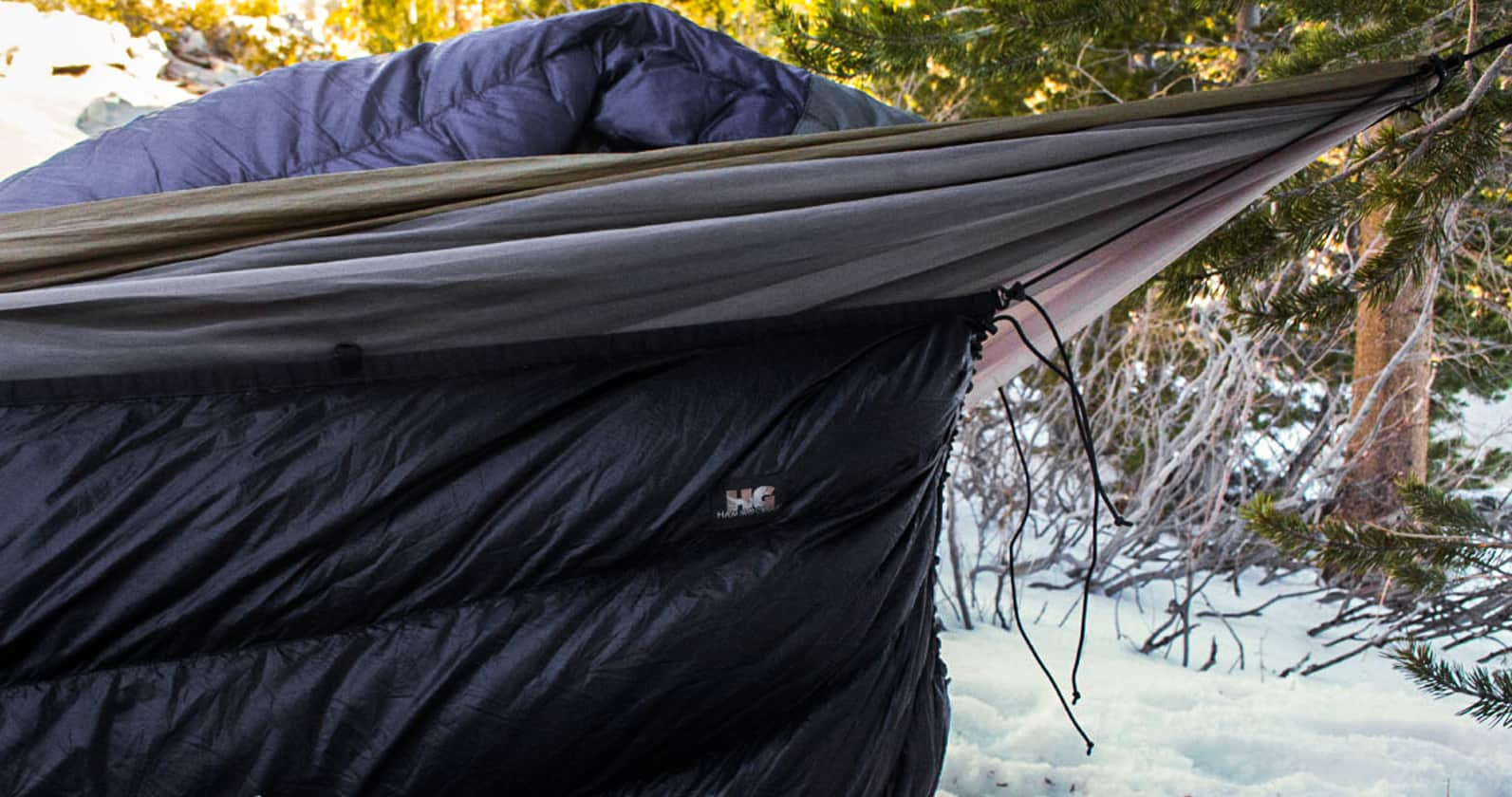 camping with a hammock underquilt