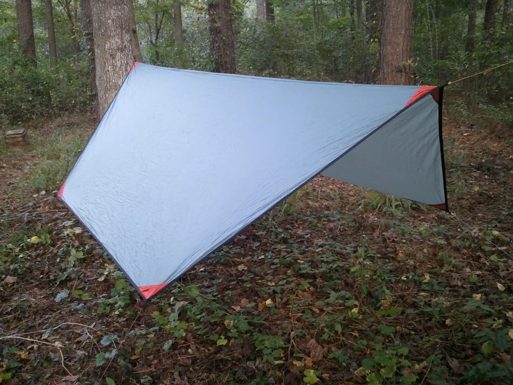 hammock tarp in a hexagonal shape