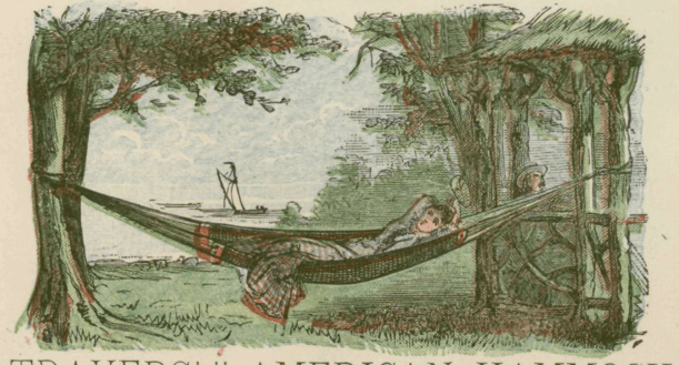 old school looking hammock camping
