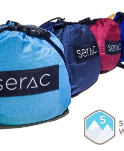 serac sequoia xl double camping hammock in compression sacks