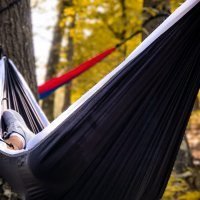serac sequoia xl double camping hammock panda white black