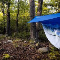 serac classic single camping hammock with tarp rain fly and bug mosquito net
