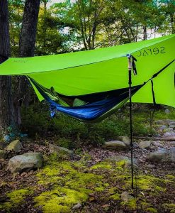 serac classic single camping hammock with tarp rain fly