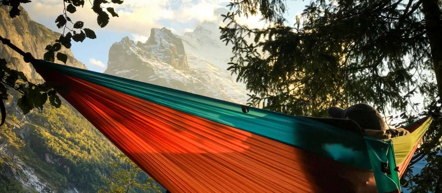 serac best ultralight single and double camping hammock, portable and lightweight for backpacking and travel